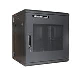 Wall Mount 12u 19in Hinged Serv Rack Cabinet W/ Mesh Door
